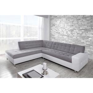 Relaxima Java Grand canapé d angle gauche Gris Blanc Achat