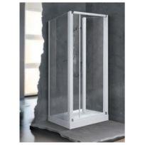 Novellini porte coulissante 3 panneaux transparent 90 Porte pliante 90 cm transparente