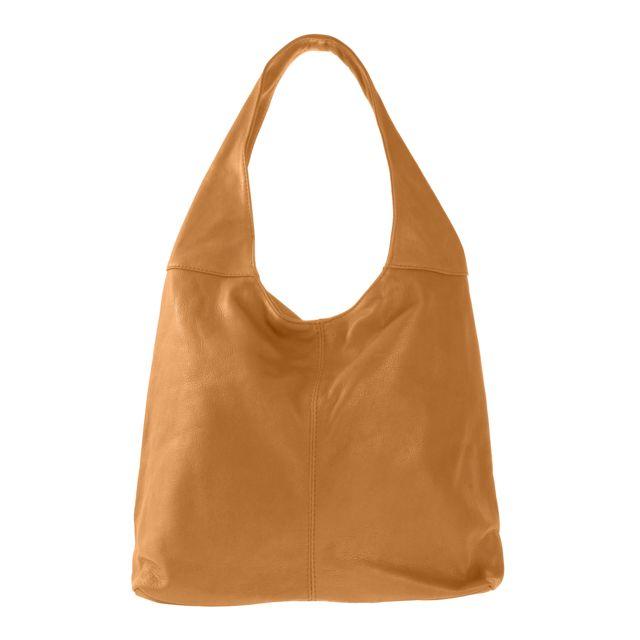 628d56af82bba Oh My Bag - Sac à main en cuir souple Cognac - pas cher Achat ...