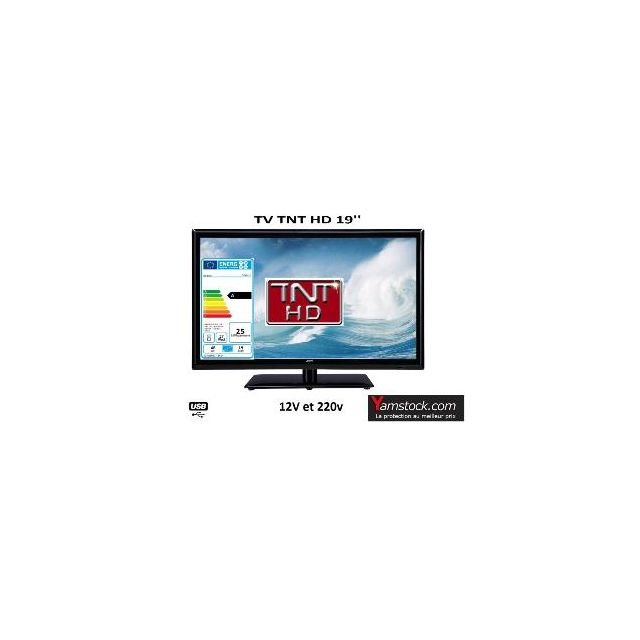 Antarion Télévision Tv Led 18.5 Hd Led 12V /220V camping car