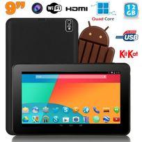 Yonis - Tablette tactile 9 pouces Android 4.4 Bluetooth Quad Core 12Go Noir