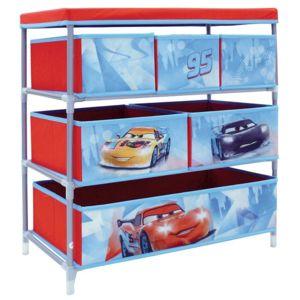 Jemini   Meuble De Rangement Metal Et Tissu 6 Cases Cars Disney Multicolor