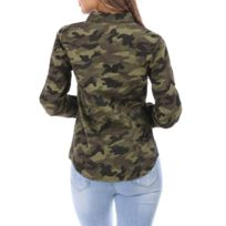 Imprimé Femme Chemise Chemise Camouflage Camouflage Femme Chemise Imprimé Femme Imprimé Camouflage CxBoWrde