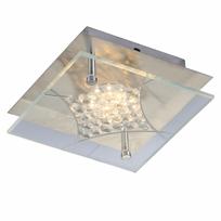 Kosilum - Lustre Plafonnier Led carré et strass en verre - Polaris