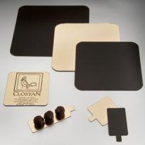 Az Boutique - Carton carré or et noir pour pâtisserie - 28 x 28cm - Lot de 50 - Carton à pâtisserie