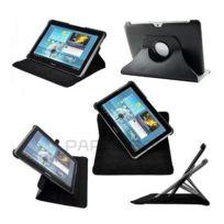 Wellkom - Housse de protection Galaxy Tab 4 - 8 pouces en Cuir Noir