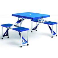 Table de jardin plastique bleu - Achat Table de jardin plastique ...