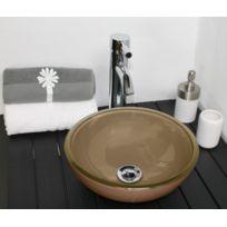 Evidence - Vasque ronde en verre capuccino Rany