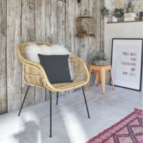 Bois Dessus Bois Dessous - Chaise en rotin et métal