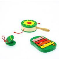 Be Toys - Instruments de musique Bois - 3 Instruments - Vert