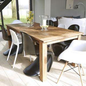 bois dessus bois dessous table en bois de teck recycl 200 cargo 200cm x 77cm x 100cm n a. Black Bedroom Furniture Sets. Home Design Ideas