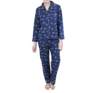 chica chic pyjama femme boutonn couleur bleu taille xl pas cher achat vente pyjamas. Black Bedroom Furniture Sets. Home Design Ideas