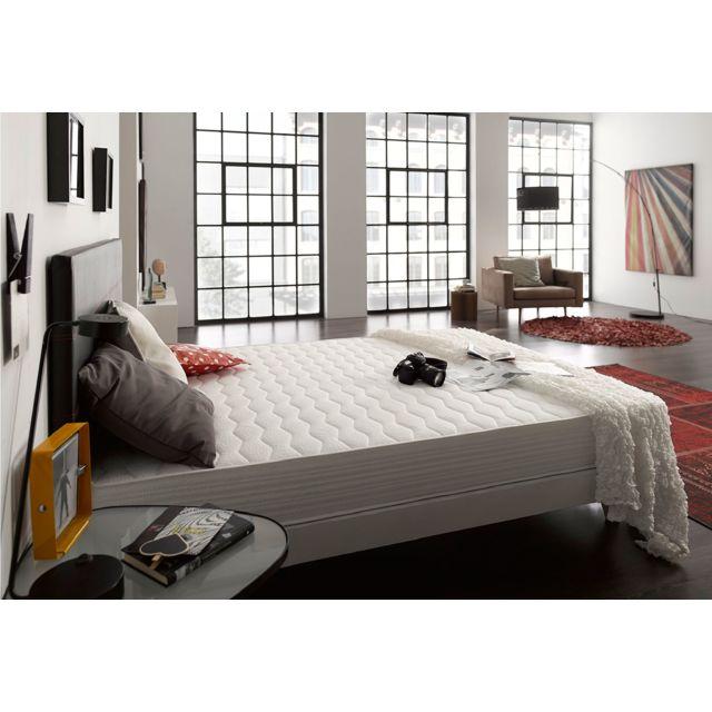 NATURALEX Matelas ERGO 105x200 cm 18cm avec mémoire de forme Viscotex® + mousse HR Blue Latex® 7 zones de confort Ferme
