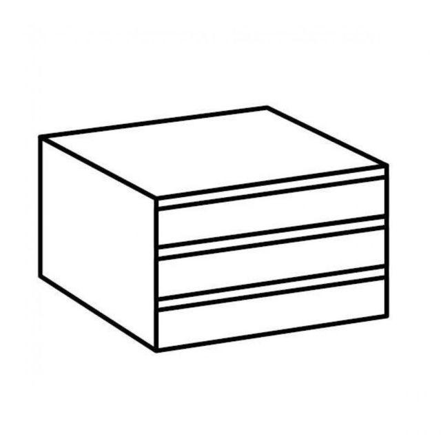 Inside 75 Bloc 3 tiroirs de rangements intérieur pour dressing Kartel