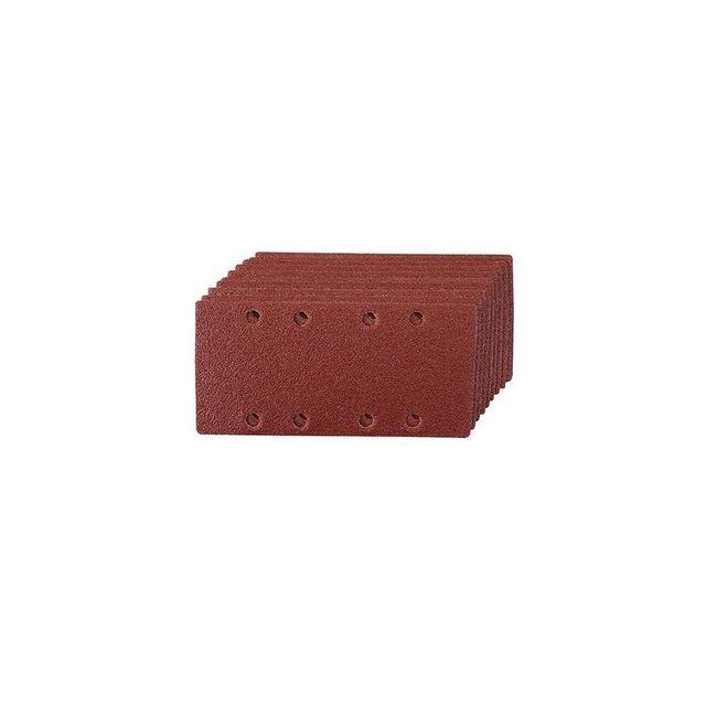 Silverline 427659 10 feuilles abrasives perfor/ées 115 x 280 mm Grain 120