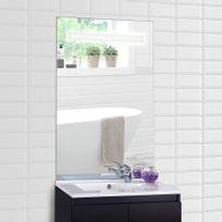 Creazur - Miroir rétro éclairé Mirlux - 60x105 cm - avec interrupteur sensitif