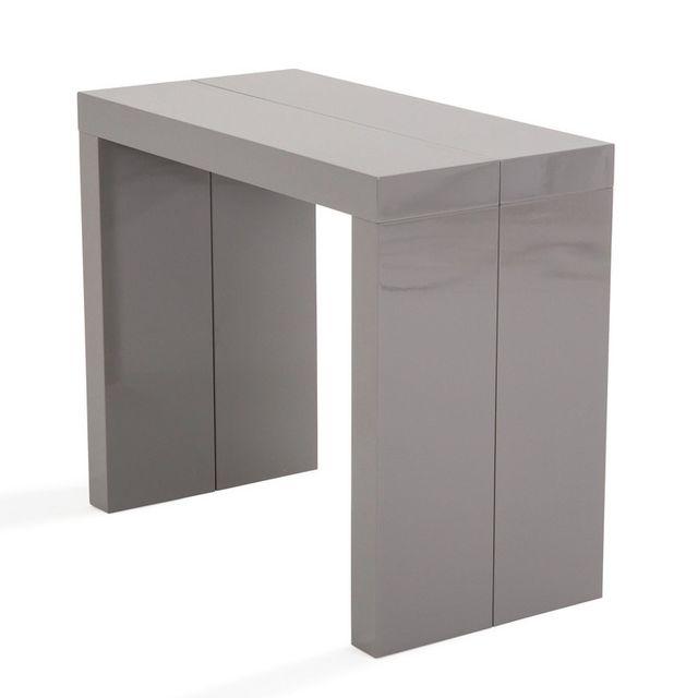 console bois gris - Achat console bois gris pas cher - Rue du Commerce