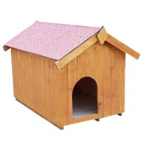 Habrita - Niche à chien bi-pente pour petits chiens - 0,77 m²