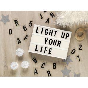 lumineo boite message lettres lumineux led manoa grand blanc 0cm x 0cm x 0cm pas cher. Black Bedroom Furniture Sets. Home Design Ideas