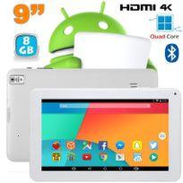 Yonis - Tablette 9 pouces Android 6.0 Tactile Hdmi 4K 1,5GHz 1Go Ram Blanc 8Go