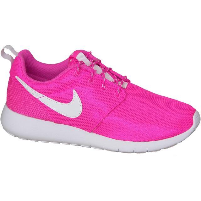 b5fe30cdd3a4f Nike - Rosherun Gs 599729-611 Rose - pas cher Achat   Vente Baskets ...