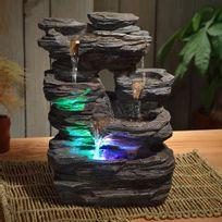Sunchine - Fontaine Intérieure en Résine Pietra 35 cm