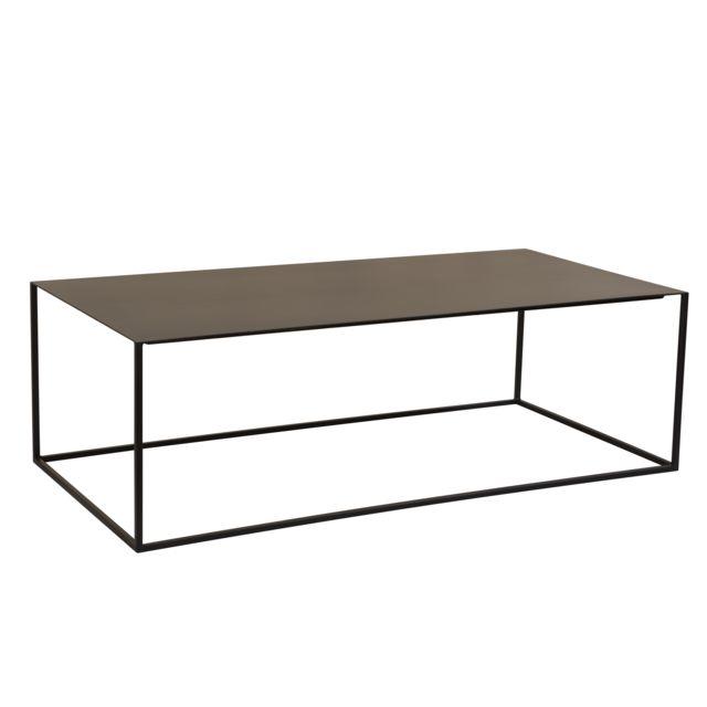 Rendez Vous Deco Table basse Cola rectangulaire noire