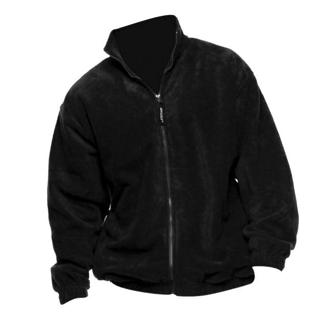 GRIZZLY Veste polaire à fermeture zippée - Homme XL, Noir Utbc509