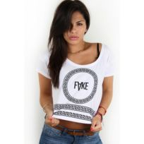 Fake - paris - Croptop T-shirt blanc chains 75