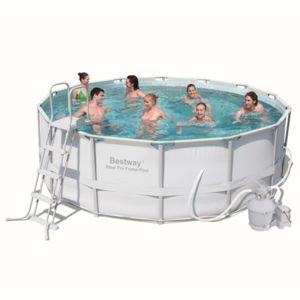 Best way piscine tubulaire ronde steel pro frame pool for Piscine bestway steel pro