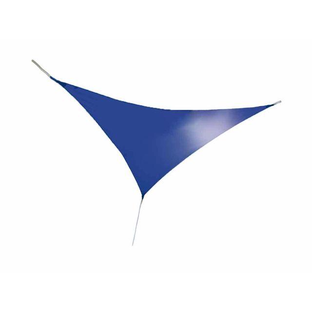JARDIDECO - Voile d'ombrage triangulaire 3,60 x 3,60 x 3,60 m - Bleu indigo