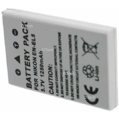 otech batterie appareil photo pour nikon en el5 pas cher achat vente batterie photo. Black Bedroom Furniture Sets. Home Design Ideas