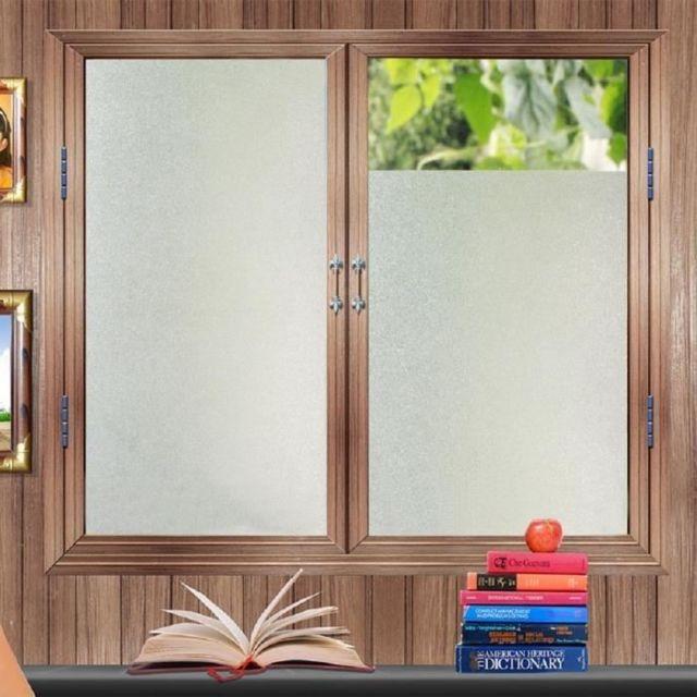 Marque generique marchelec film fen tre protection anti chaleur vitre opaque d poli anti uv - Film vitre salle de bain ...