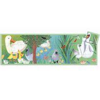 Djeco - Puzzle Silhouette 24 pièces : Le vilain petit canard
