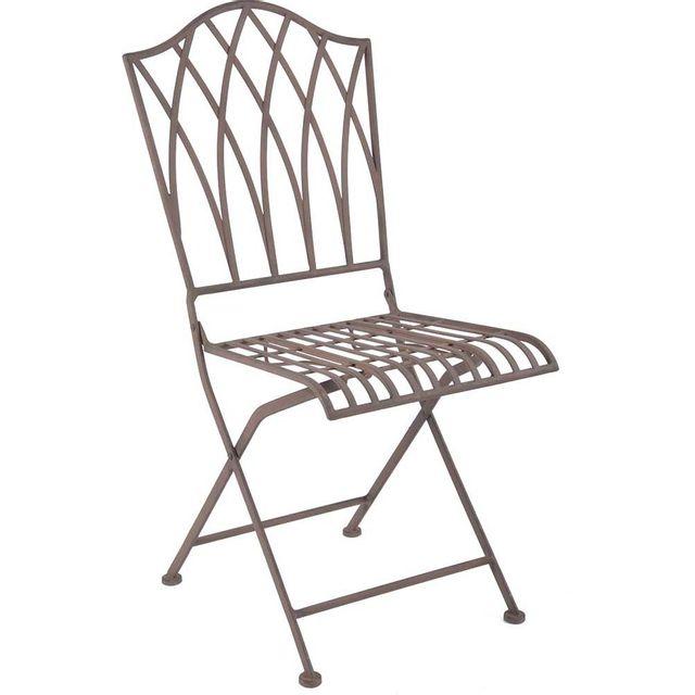 ESSCHERT DESIGN Chaise pliable en métal
