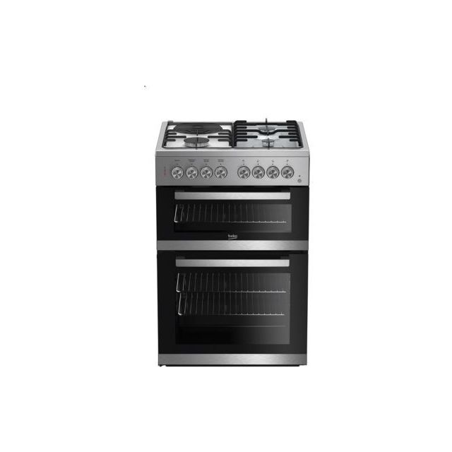 beko cuisini re mixte fde83110dxc achat vente cuisini re chaleur tournante pas cher. Black Bedroom Furniture Sets. Home Design Ideas
