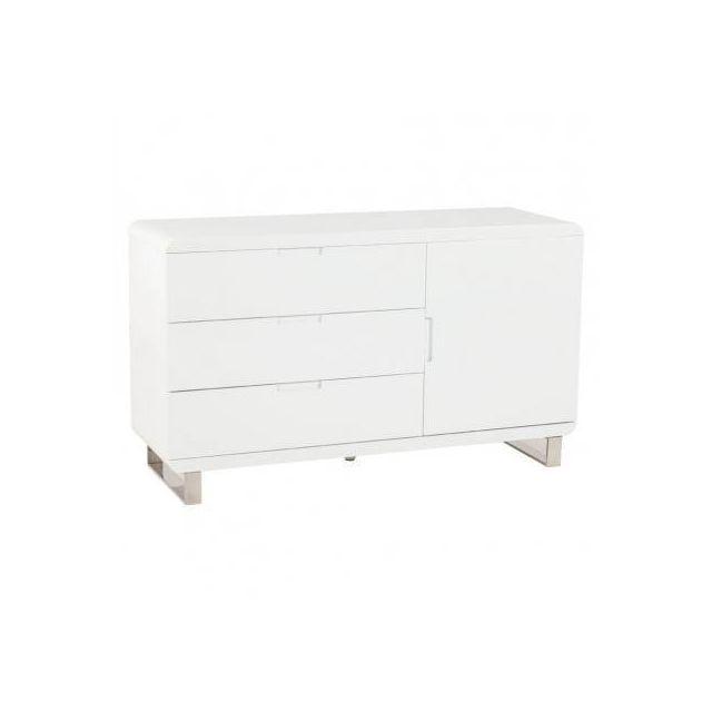 10 sur techneb meuble de rangement bas corse en bois laqu blanc vendu par rueducommerce. Black Bedroom Furniture Sets. Home Design Ideas