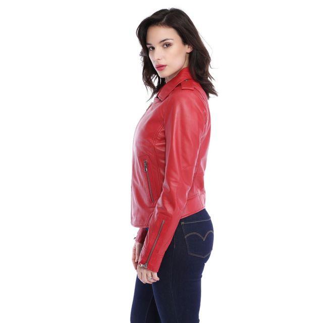design de qualité f7faa caab8 Blouson cuir femme Nevada 62325 rouge