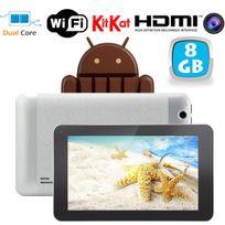 Tablette tactile Android 4.4 KitKat 7 pouces Dual Core Gris 8 Go