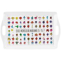 Monsieur Madame - Grand Plateau De Service Licence Panorama Collection Personnage 50,5 x 31,5 cm