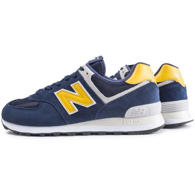 new balance blanche jaune bleu