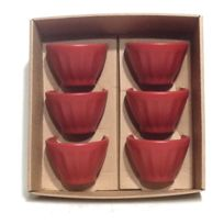 Ccf  Terre étoilée - Tasses /petits bols expresso x 6 terre rouge mat