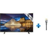 POLAROID - TV Led 49'' - TRC49UHDP + Câble HDMI Advanced High Speed Gold - 1.5m