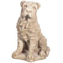 MARQUE GENERIQUE - Statue chien en pierre reconstituée