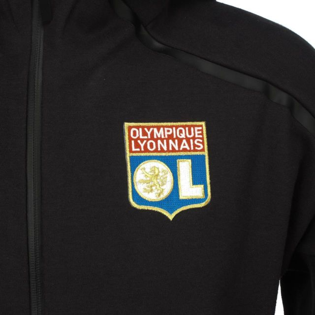 Adidas Vestes replica officielle Lyon veste molt ol h Noir