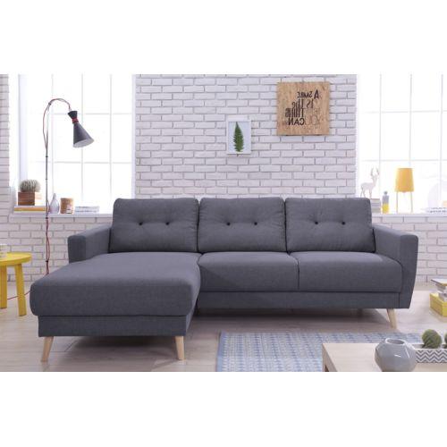 bobochic oslo canap d angle gauche 225x147x86cm gris fonc achat vente canap s tissu. Black Bedroom Furniture Sets. Home Design Ideas