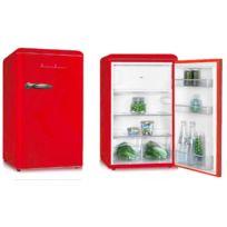 Schaub Lorenz - Sl114TTR Réfrigérateur Vintage Rouge Table Top 114 litres