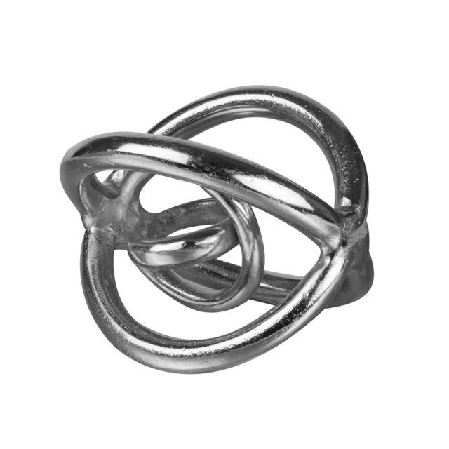 TABLE PASSION Sculpture en métal argenté galaxy