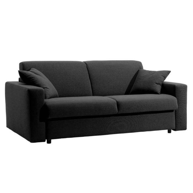 inside 75 canap lit dreamer rapido sommier lattes 140cm matelas 16cm cuir co graphite achat. Black Bedroom Furniture Sets. Home Design Ideas