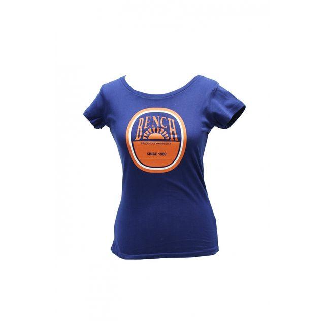 708533157dd0 Bench - T-shirt Rebeccarama Bleu Marine - pas cher Achat   Vente Tee ...